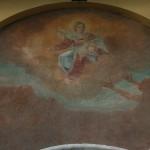 """La facciata esterna con l'affresco della """"Madonna della Cintura"""""""