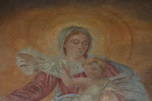 """particolare della """"Madonna della Cintura"""""""