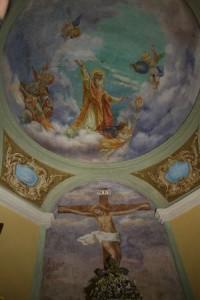 """la """"Gloria di San Martino"""" e il crocifisso sulla parete nord"""