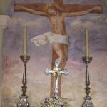 Affresco della crocifissione di Gesù Cristo
