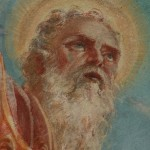 particolare del volto di San Martino