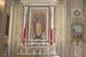 l'altare dedicato a San Gaudenzio