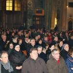 il folto pubblico presente il basilica