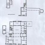 Planimetria interna del Castello, con la classificazione delle stanze del piano seminterrato (sala consiliare e il pozzo) e del piano terra (i due cortile, la sala del camino ed il terrazzo)
