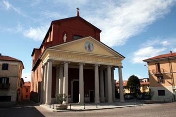 Panoramica d'insieme della Chiesa di San Gaudenzio