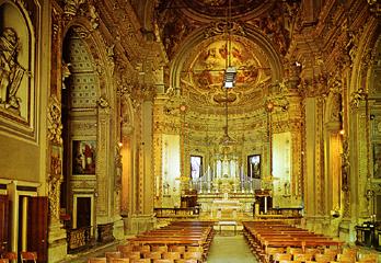 Panoramica della navata interna