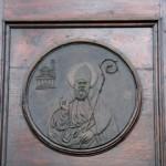 Bronzo sul portale, raffigurante San Gaudenzio