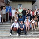 il gruppo al Castello Visconteo