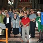 La Presidente della Pro Loco di Fagnano Olona, le autorità, i figuranti medioevali ed i promotori del recupero della settecentesca campana
