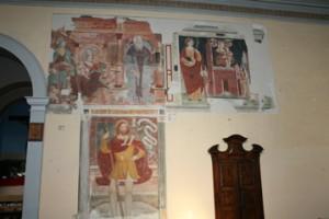 Gli antichi e pregiati affreschi sulla parete Nord