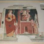 Madonna in trono e santi, cm. 320 x 200 circa. Artista lombardo, 1543