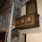 L'antico pulpito, sulla parete Nord