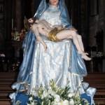 La statua della Vergine, molto venerata dai fagnanesi