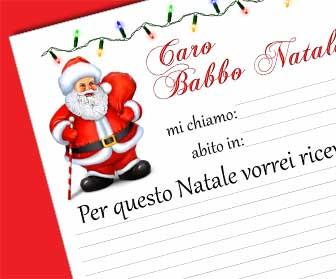 Babbo Natale Letterine.Scrivi La Letterina A Babbo Natale