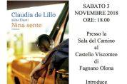 """""""Nina Sente"""", il nuovo libro di Claudia De Lillo"""