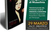 Romanzo 'Il sangue nero di Mussolinia' il 29/3