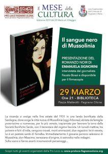 Romanzo 'Il sangue nero di Mussolinia' @ Biblioteca E. Biagi