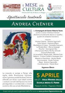 """Spettacolo  teatrale """"Andrea Chénier"""" il 5/4 @ Aula Magna della scuola """"E. Fermi"""""""