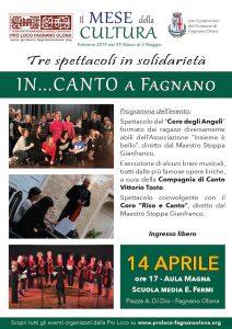 """""""In…canto a Fagnano"""", Tre spettacoli tra musica e teatro @ Aula Magna della scuola """"E. Fermi"""""""