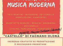 """""""Concerto di musica moderna"""" il 30 agosto"""