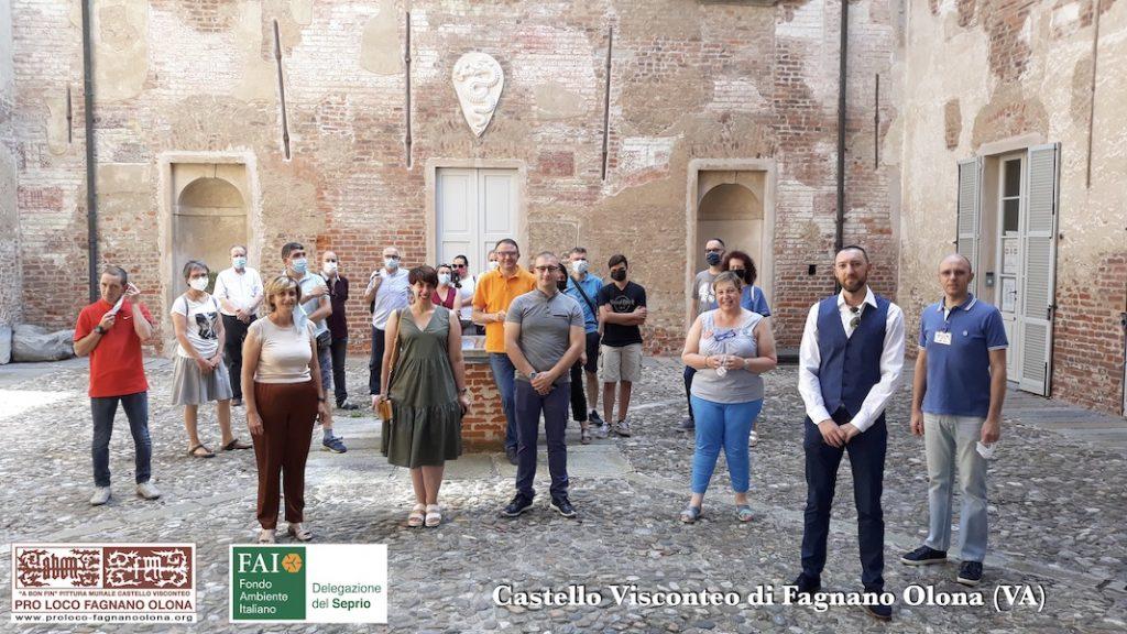 Volontari della Pro Loco Fagnano Olona, referenti del FAI Seprio e dell'Amministrazione Comunale